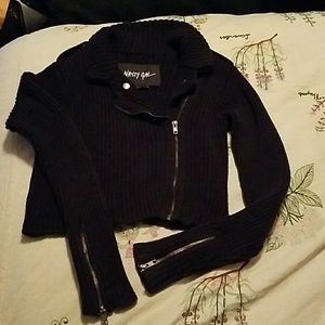 Nasty Gal Crop Zipper Sweater